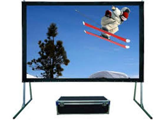"REAR PROJECTION SCREEN-150""*200"""