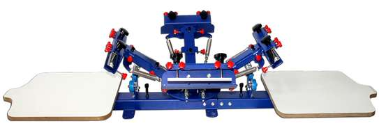 New Four Color Two Station Screen Printing Machine image 1