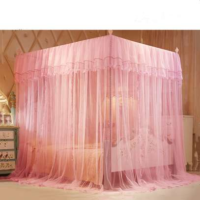 4 STAND MOSQUITO NET-PINK