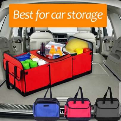 Foldable car boot organizer image 7