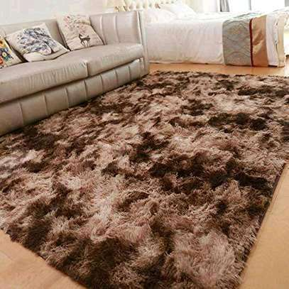 Fluffy Carpet 5*8 Brown Patched