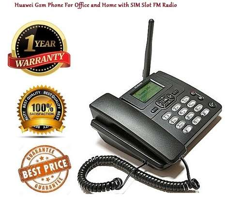 Landline Gsm Phone For Office and Home with SIM Slot FM Radio