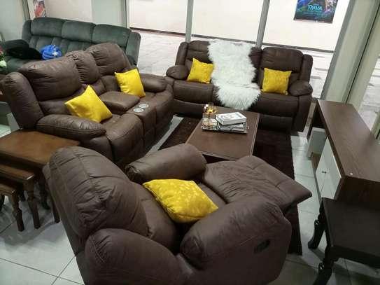 Oscar brown recliner set image 1