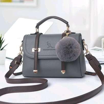 Gray casual fancy handbags image 1