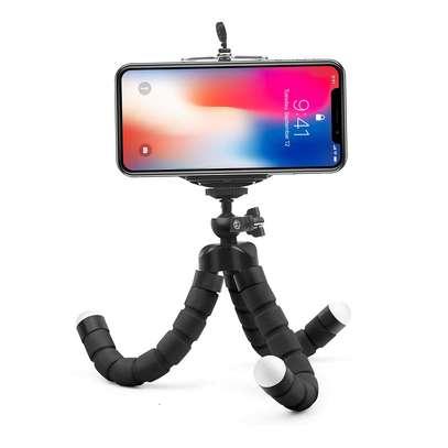 Flexible smartphone ,Webcam Portable Sponge Camera Tripod- Black image 3