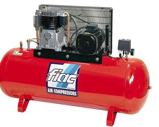 Air compressor Single cylinder heavy duty-Stainless And Black