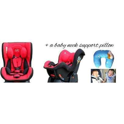 Reclining Baby Car Seat - red, black(0-5yrs) + a baby neck support pillow