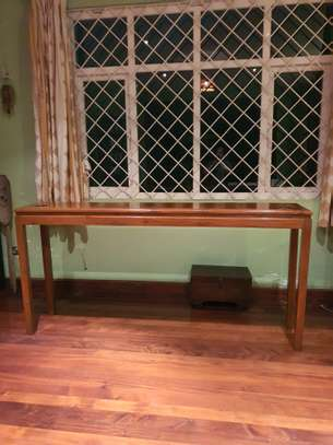Wood Console table image 2