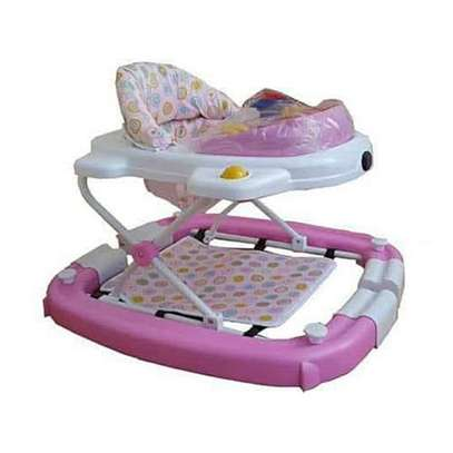 Convertible 2 in 1 Baby Walker/Rocker - Multicolor.