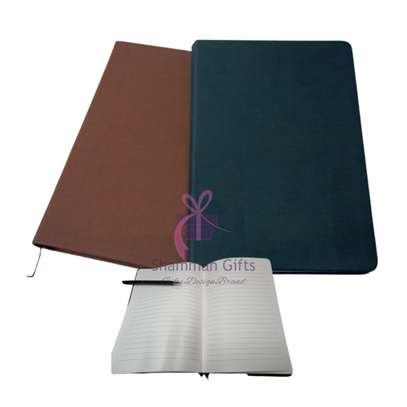 Brown & Black A5 size notebook with rough texture can be engraved with a logo or a name @ Kes.750 image 1