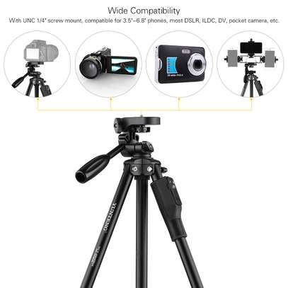 YUNTENG VCT-6808 Multi-functional Tripod for Phone with 3 Phone Holders 4-Section Telescoping Tripod Ball Head Remote Controller image 8
