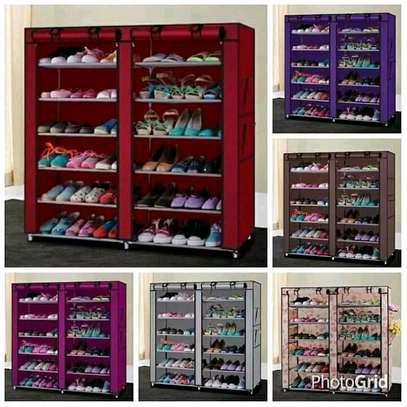 Colorful 36 shoe rack image 1