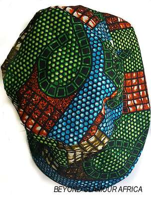 Ankara Green-Blue Sun Hat image 1