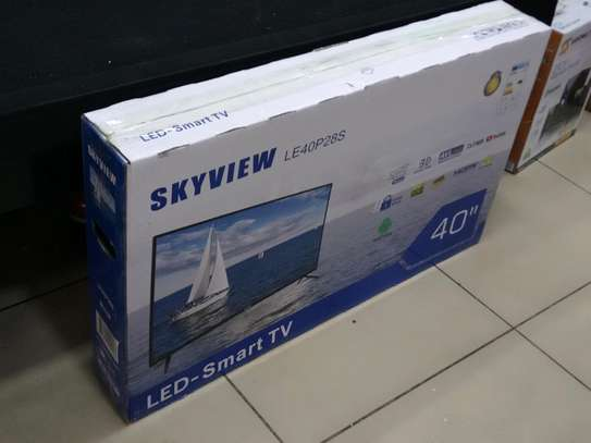 Skyview Smart Android 40 Inch TV With Google Playstore Brand New image 1