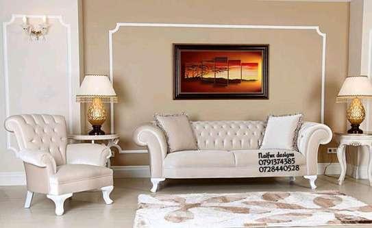 Modern livingroom sofas for sale in Nairobi Kenya/sofa designs/three seater sofa/king chair/wingback sofas image 1