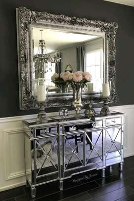 Best dining room designs/Best mirrored buffet table designs/Classic buffet table shops in Nairobi Kenya image 1