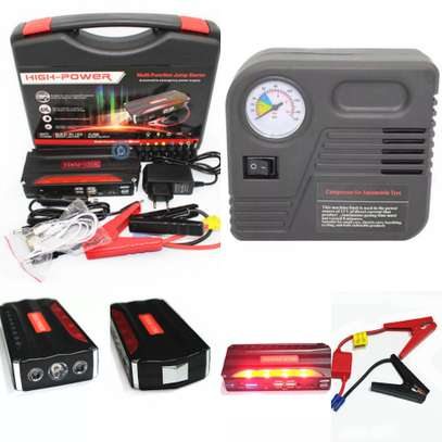 Car Jump Starter Kit With Air Compressor 50800mah Upgraded High