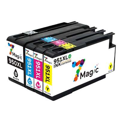 set of cartridges 951XL (all colors) and 950XL (black) HP printer