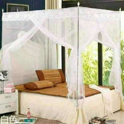Mosquito Net with Metallic Stand 5 by 6 -White image 1