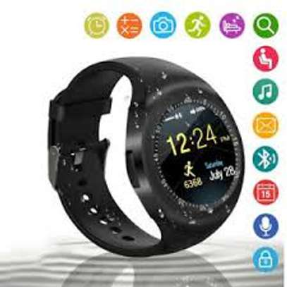 Y1 Smart Watch With Mpesa Menu And Camera- Black image 1