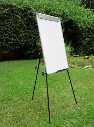 CLASSIC STEEL EASEL WHITEBOARD PORTRAIT ORIENTATION, ALUMINUM FRAME, ON A TRIPOD STAND & PORTABLE! image 4