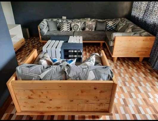wooden sofa sets image 1