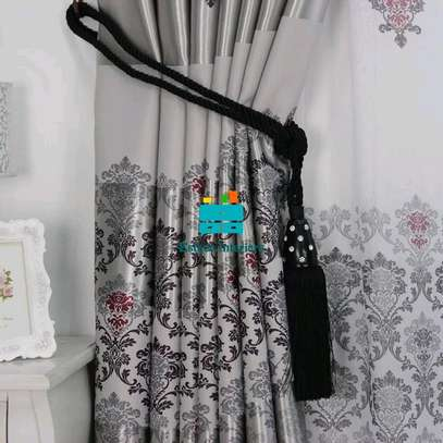 GREY BEAUTIFUL CURTAINS WITH SHEERS image 4