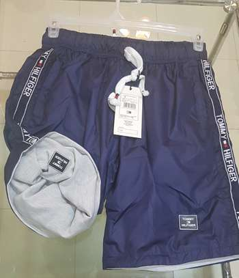 Double sided branded two colours shorts