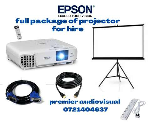 Full package for projector for hire image 1