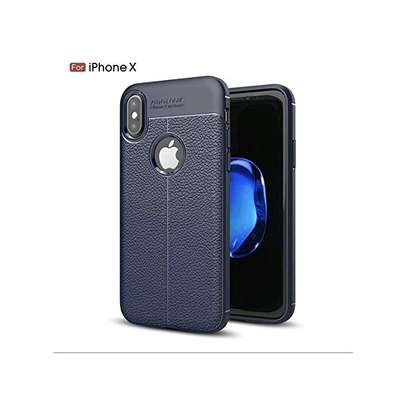 Generic Auto Focus Soft TPU Leather Back Cover For iPhone X image 1