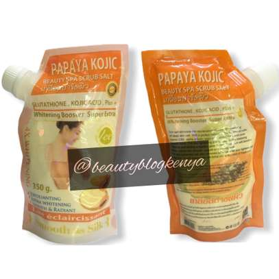 Whitening Kojic Papaya Arbutin Body Spa Salt Scrub