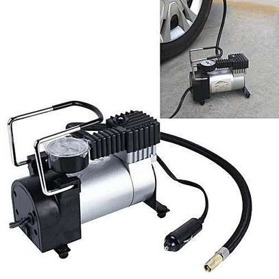 Air compressor Single cylinder heavy duty-Stainless And Black image 1