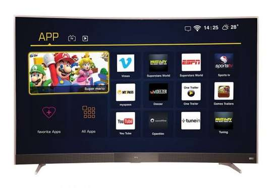 TCL digital smart 55 inches curved 4k image 2