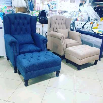 Stylish Contemporary Quality Wingback Chairs image 2