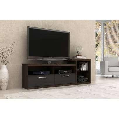 TV Stand for Up to 42'' TVs - Tecno Mobili - BlackBrown image 1