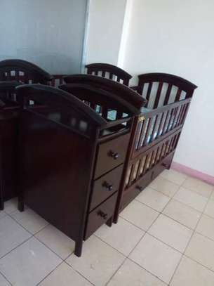 Baby Crib with Chest Drawers image 5