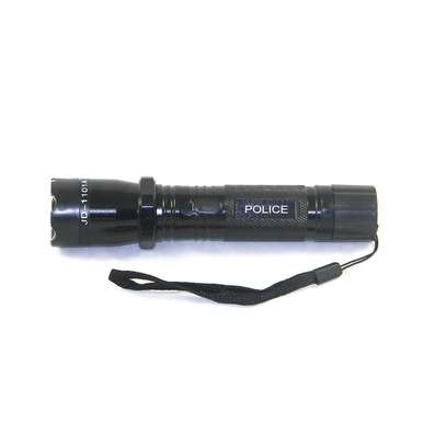 The police issue 1101 taser stun gun with rechargeable flashlight is a must for self defense. It comes in a handy carry case which is perfect for concealment. Quick and effective function. Rechargeable batteries included. Specifications Voltage: 4, 8, Output voltage: 1200kv with dimensions of 160X38mm 1101 Taser Stun Gun & Rechargeable Flashlight image 1