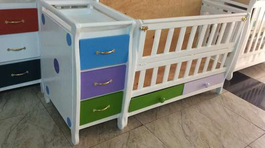 Baby Cot with chest of drawers