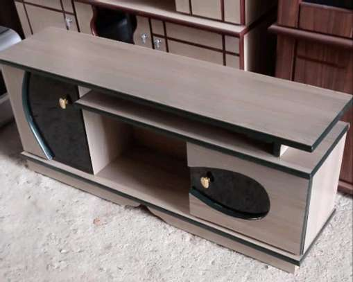 Entertainment wood universal TV stand image 1