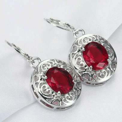 Red Stone Earrings image 2