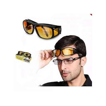 Generic HD Night Vision Driving Glasses - Yellow image 2