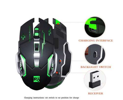 Rechargeable 6 Button Wireless Backlit Gaming Mouse 710 image 1