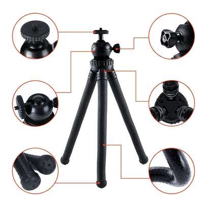Flexible Portable Travel Octopus Tripods for camera and smartphone image 3