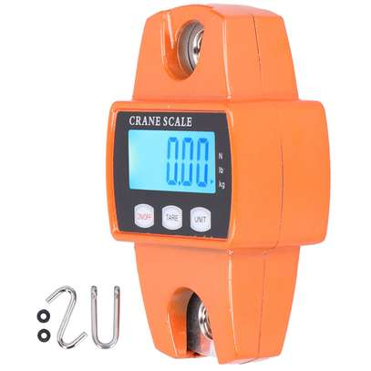 300kg Portable Crane Scale LCD Digital Hanging Hook Scale Weight Measuring Tool image 3