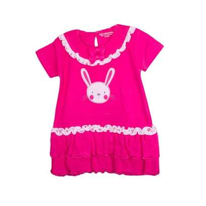 2pc Girls set (Frock and Pink,White Panty)