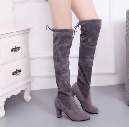 Suede long boots image 3