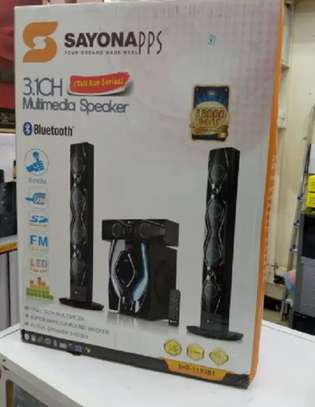Sayona Apps 1193BT Multimedia Speaker With tall boys image 1