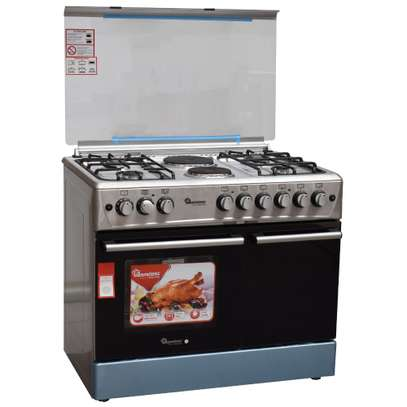 Ramtons 4G+2E 90X60 STAINLESS STEEL COOKER- RF/493 image 1