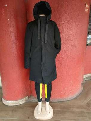 Black designer quality unisex puff jackets image 1