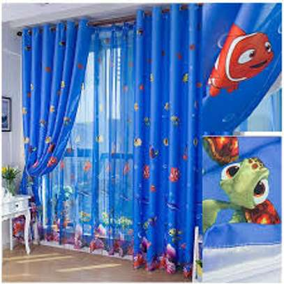 Cartoon print curtains image 3